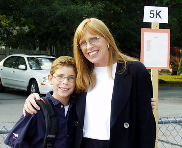 2001 Mike first day 5th grade